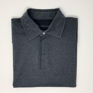 Ermenegildo Zegna Charcoal Gray Polo Shirt Size L